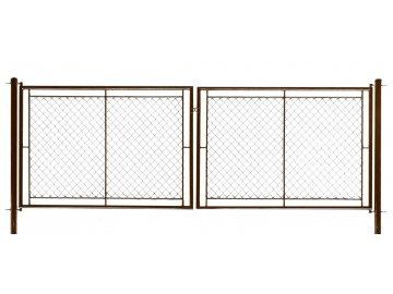Brána zahradní dvoukřídlá pletivo, výška 180x360cm OKO hnědá