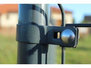 Příchytka plotového panelu na sloupek 48mm - koncová, antracit