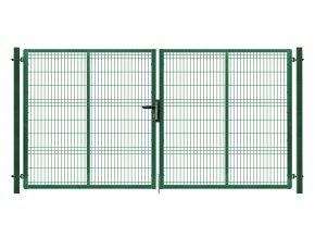 Brána výplň svařovaný panel 3D, výška 205x400 cm FAB zelená