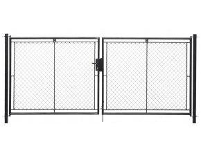 Brána zahradní dvoukřídlá pletivo, výška 150x360cm FAB antracit