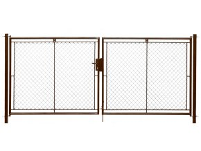 Brána zahradní dvoukřídlá pletivo, výška 160x360cm FAB hnědá