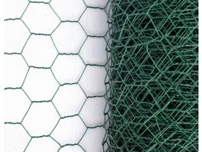 Králičí pletivo chovatelské, zelené (PVC), oko 16 mm, 100 cm výška