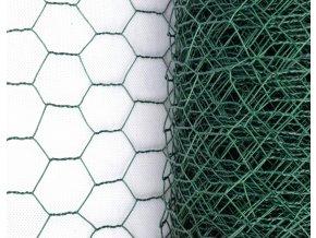 Králičí pletivo chovatelské, zelené (PVC), oko 13 mm, 100 cm výška