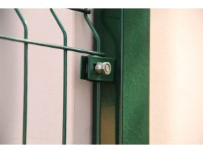 Příchytka plotového panelu do zdi / kovu, zelená RAL 6005