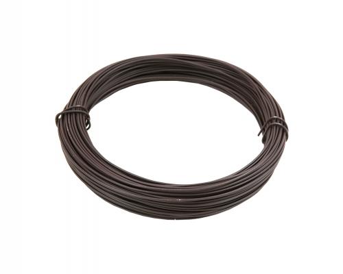 Napínací drát poplastovaný - drát 2,25/3,4 mm, délka 78 m, hnědý
