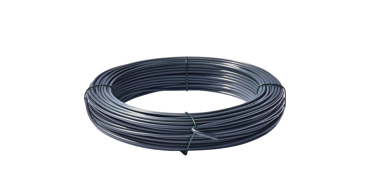 Napínací drát poplastovaný - drát 2,5/3,5 mm, délka 52 m, antracit