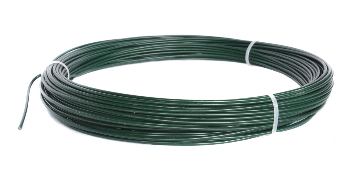 Napínací drát poplastovaný - drát 2,2/3,2 mm, délka 78 m, zelený