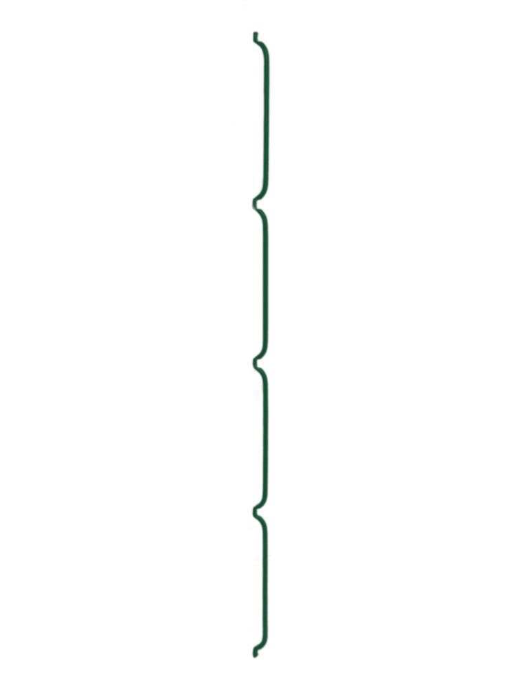 Konzole na zeď LIGHT - 125 cm, 8 mm, zelená
