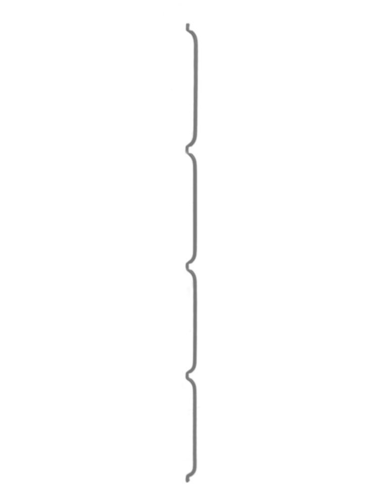 Konzole na zeď LIGHT - 200 cm, 8 mm, zinková