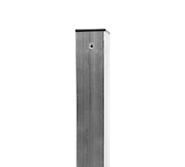 Plotový sloupek jeklový/hranatý - 60x60mm,200 cm, 1,5 mm, Zn