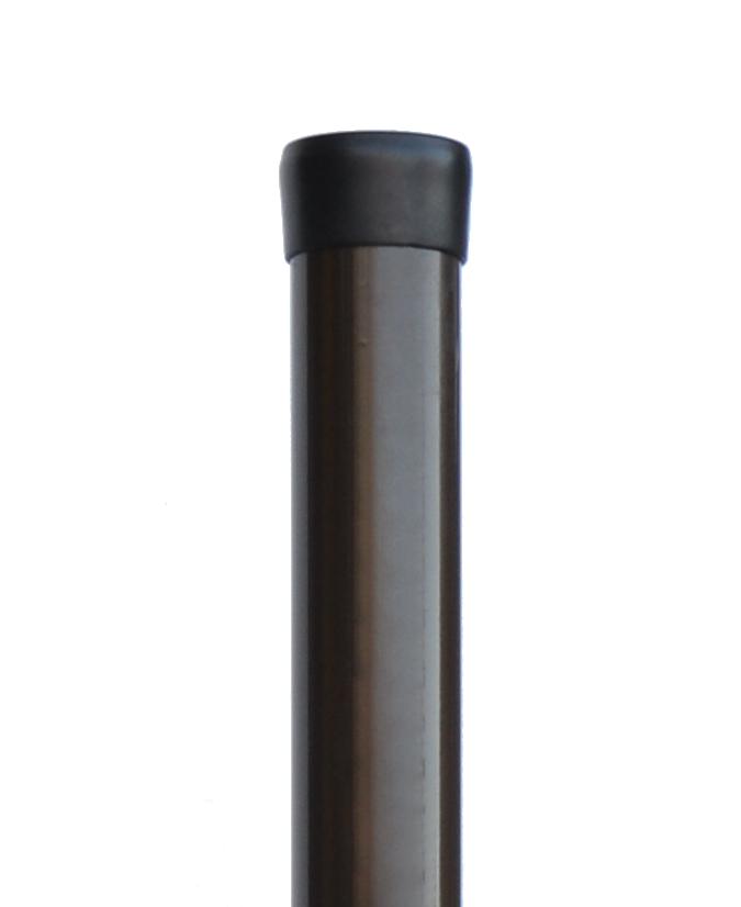 Plotový sloupek hnědý průměr 48 mm, výška 300 cm