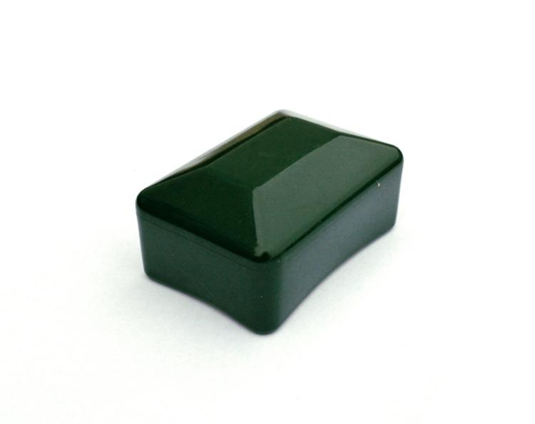 Čepička na plotový sloupek 60x40 mm - PVC, zelená, převlékací