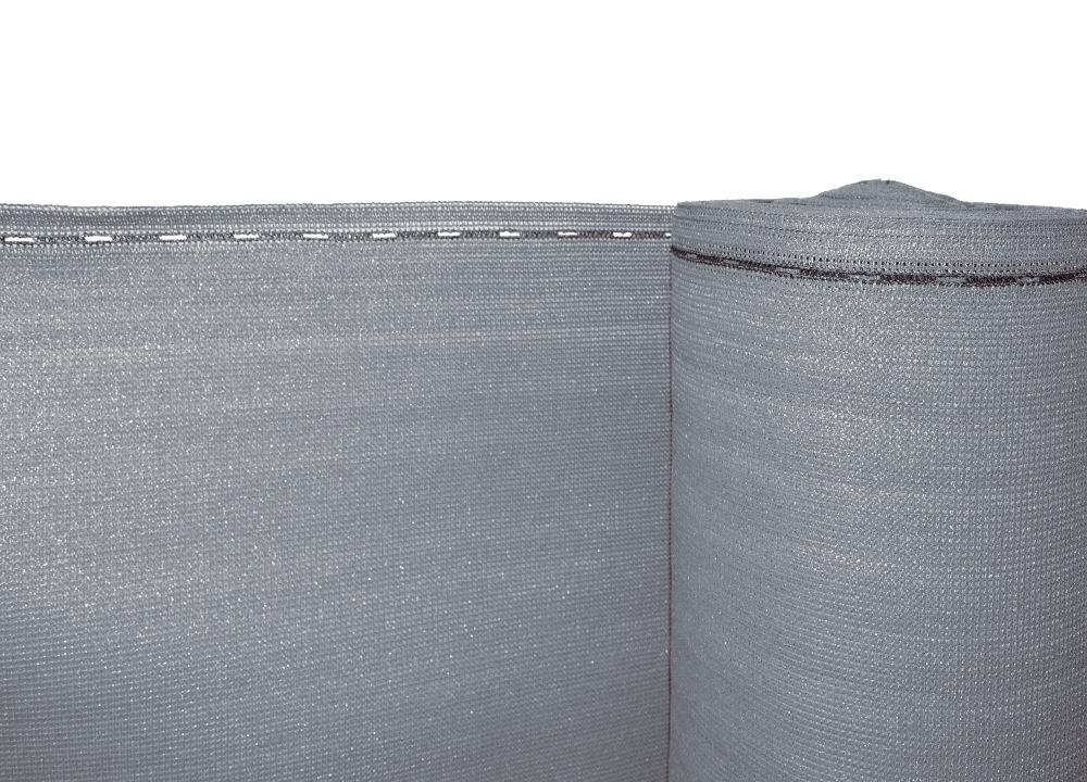Stínící tkanina na plot - zastínění 90%, výška 180 cm, šedá