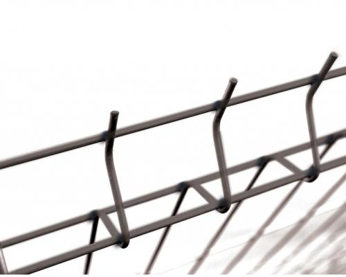 Plotový panel 3D s prolisem - výška 123 cm, drát 5 mm, Fe