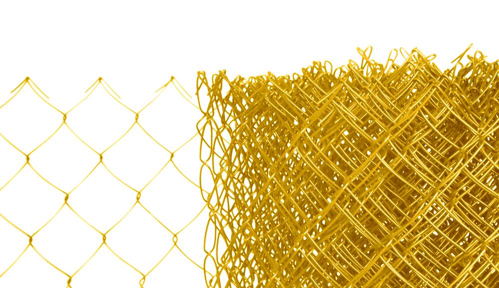 Pletivo poplastované výška 160 cm bez ND (2,5mm;50x50mm;PVC; žluté)