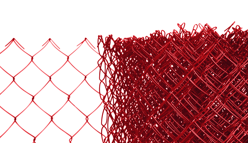 Pletivo poplastované výška 100cm bez ND (2,5mm;50x50mm;PVC; červené)