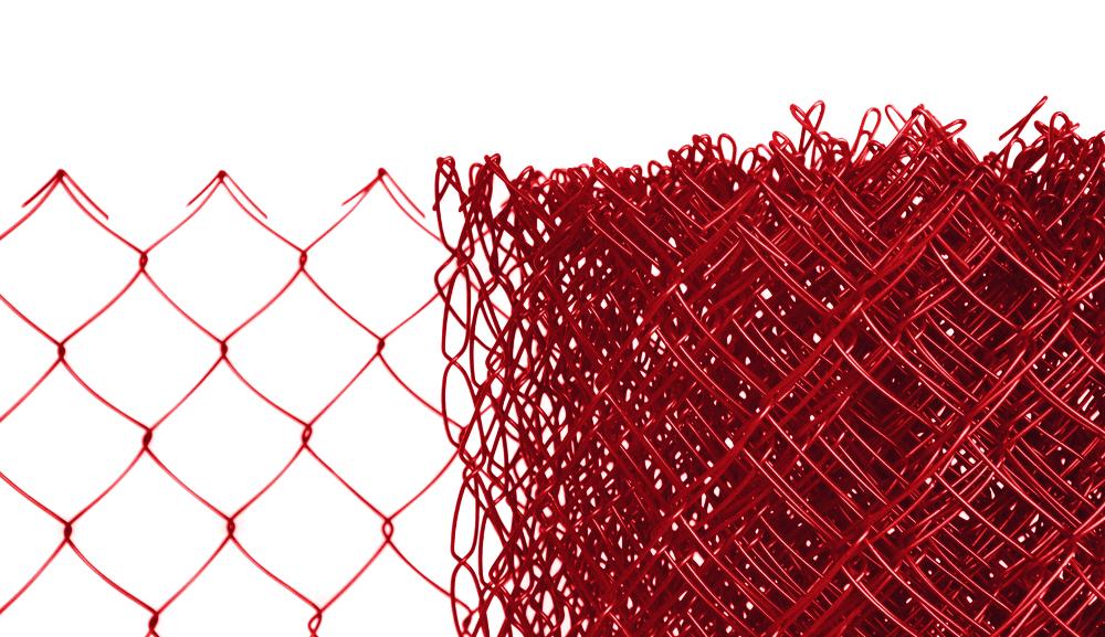 Pletivo poplastované výška 160 cm bez ND (2,5mm;50x50mm;PVC; červené)