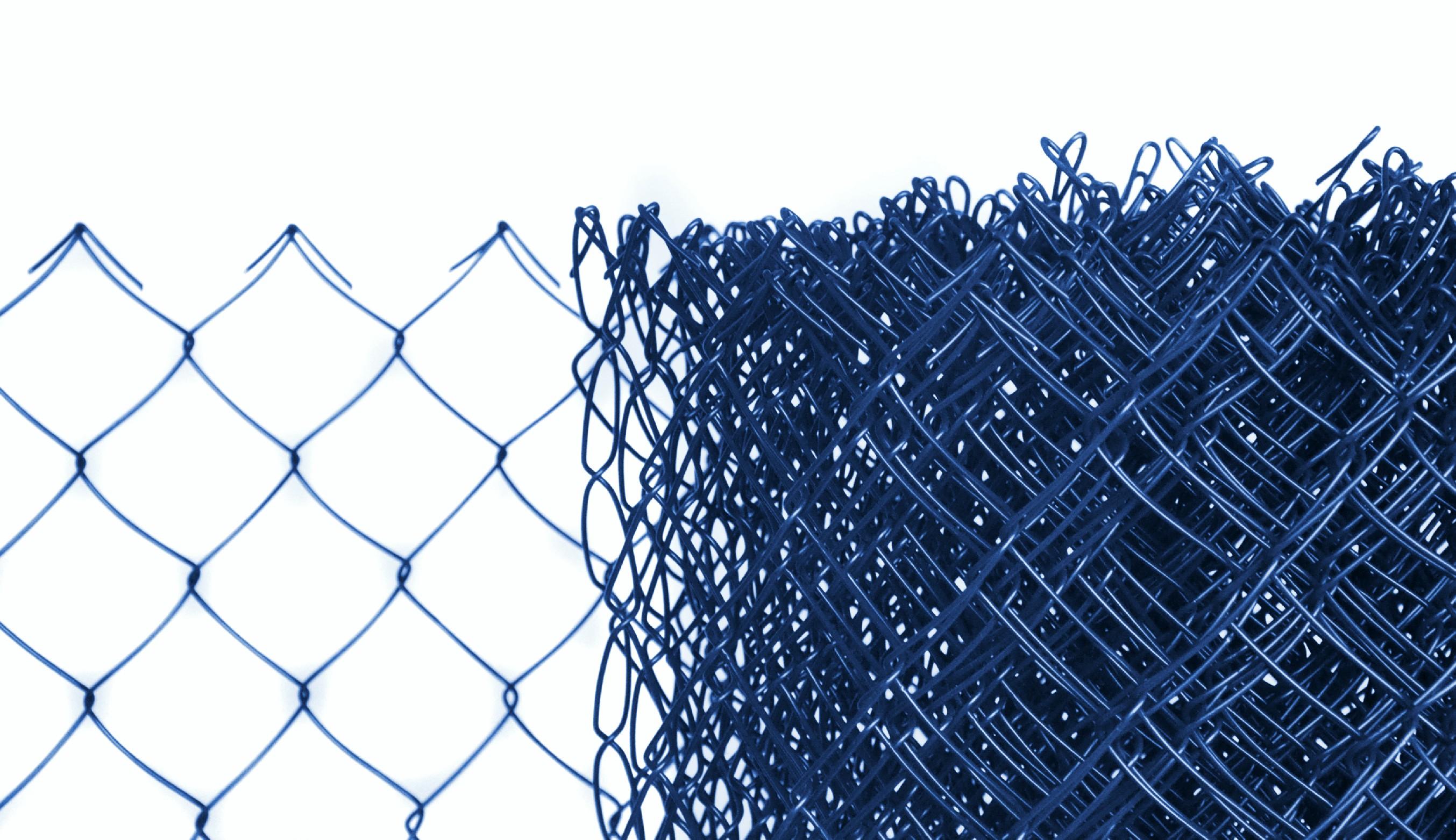 Pletivo poplastované výška 160 cm bez ND (2,5mm;50x50mm;PVC; modré)