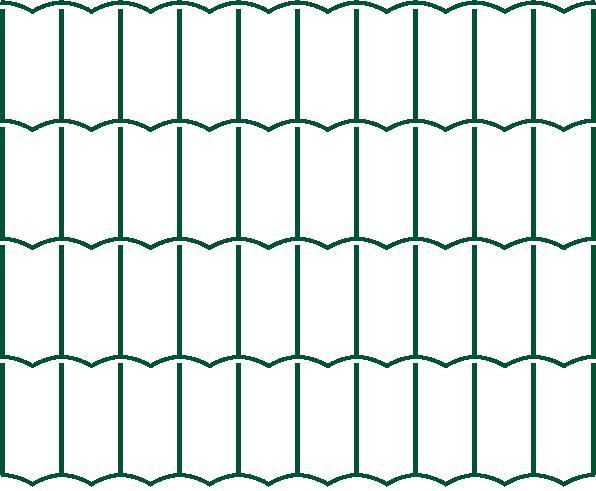 Svařované pletivo Europlast/Pilonet Middle - výška 150 cm, drát 2,2 mm, Zn+PVC zelená