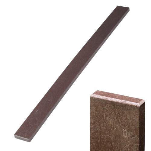 Plastová plotovka hnědá - rovná, 78x21 mm, délka 120 cm