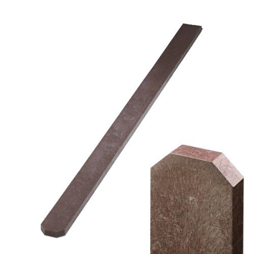 Plastová plotovka hnědá - tříhranná, 78x21 mm, délka 120 cm