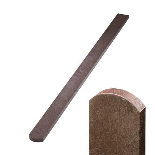 Plastová plotovka hnědá - oblá, 78x21 mm, délka 100 cm