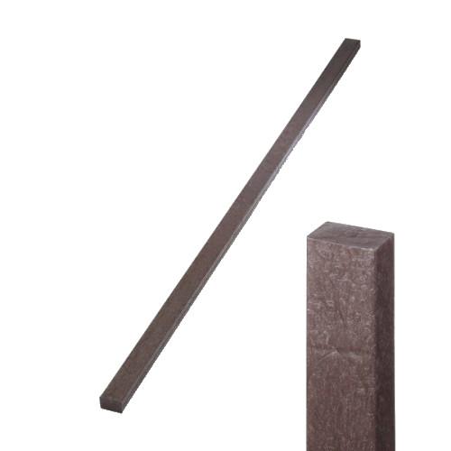 Plastová plotovka hnědá - rovná, 50x30 mm, délka 200 cm