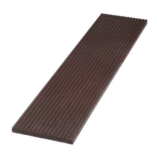 Plastové terasové prkno rýhované - hnědá, 330x30 mm, délka 150 cm