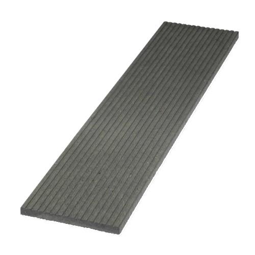 Plastové terasové prkno rýhované - šedá, 330x30 mm, délka 150 cm