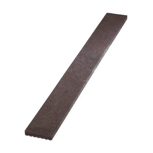 Plastové terasové prkno rýhované - hnědá, 140x30 mm, délka 150 cm
