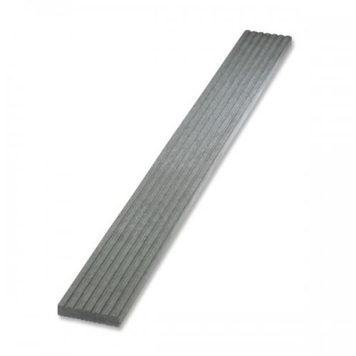 Plastové terasové prkno rýhované - šedá, 140x30 mm, délka 150 cm