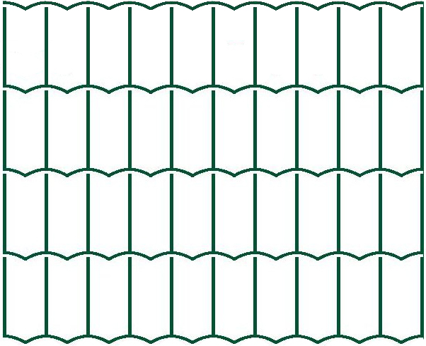 Svařované pletivo Hortaplast - výška 150 cm, drát 2,5 mm, Zn+PVC zelená