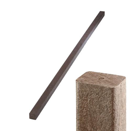 Plastový hranol - hnědý, 50x50 mm, délka 200 cm