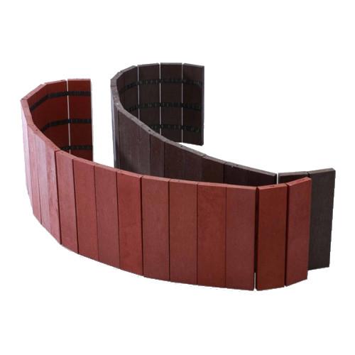 Plastová palisáda - rovná, hnědá, délka 101 cm, 190x21 mm