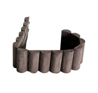 Plastová palisáda - půlkulatá, hnědá, délka 101 cm, 190x35 mm