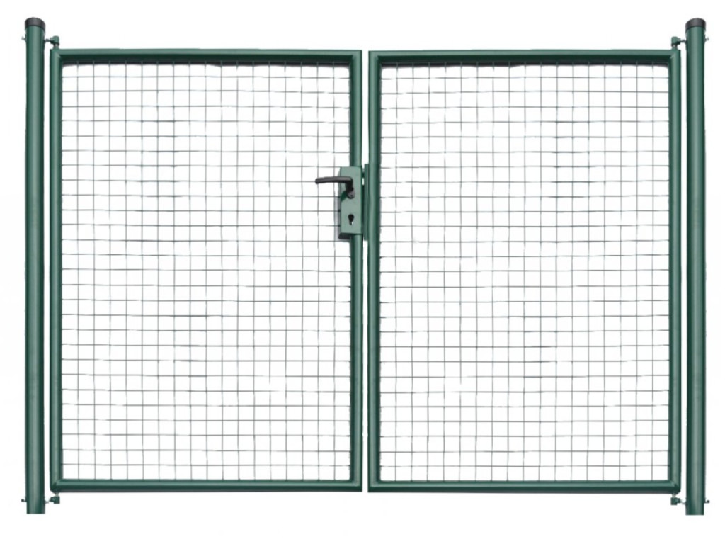 Brána zahradní svařovaná síť, výška 150x360 cm FAB zelená