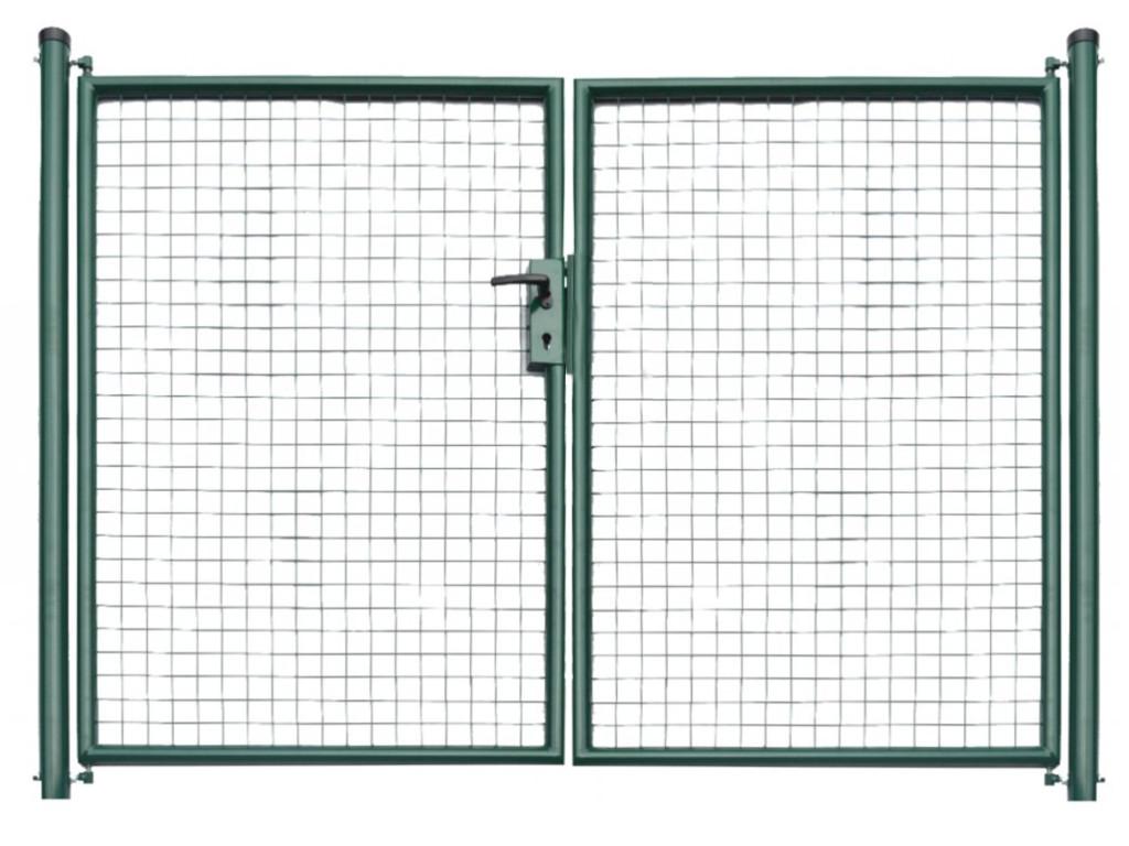 Brána zahradní svařovaná síť, výška 160x360 cm FAB zelená