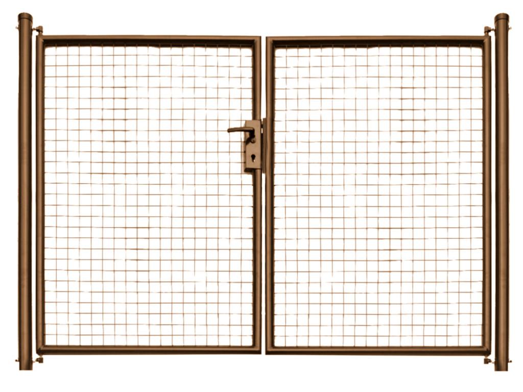 Brána zahradní svařovaná síť, výška 125x360 cm FAB hnědá