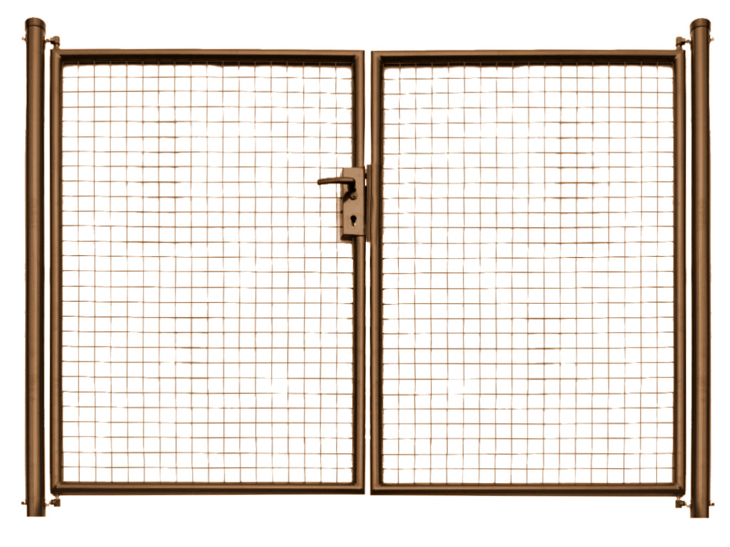 Brána zahradní svařovaná síť, výška 160x360 cm FAB hnědá