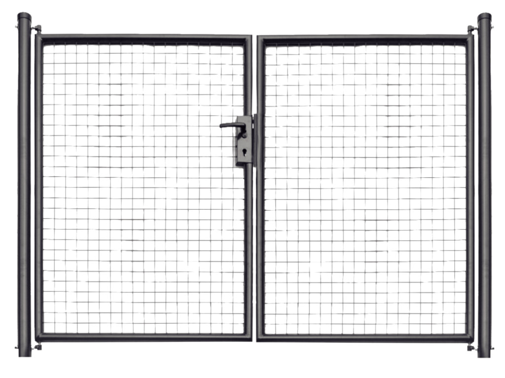 Brána zahradní svařovaná síť, výška 160x360 cm FAB antracit