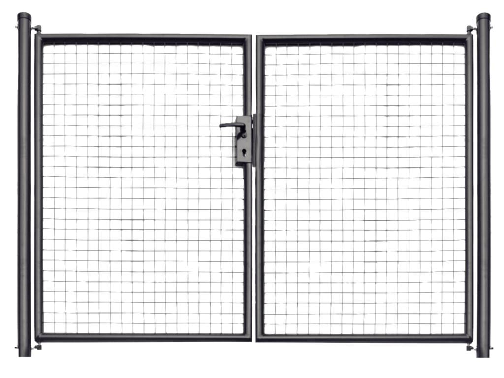 Brána zahradní svařovaná síť, výška 180x360 cm FAB antracit