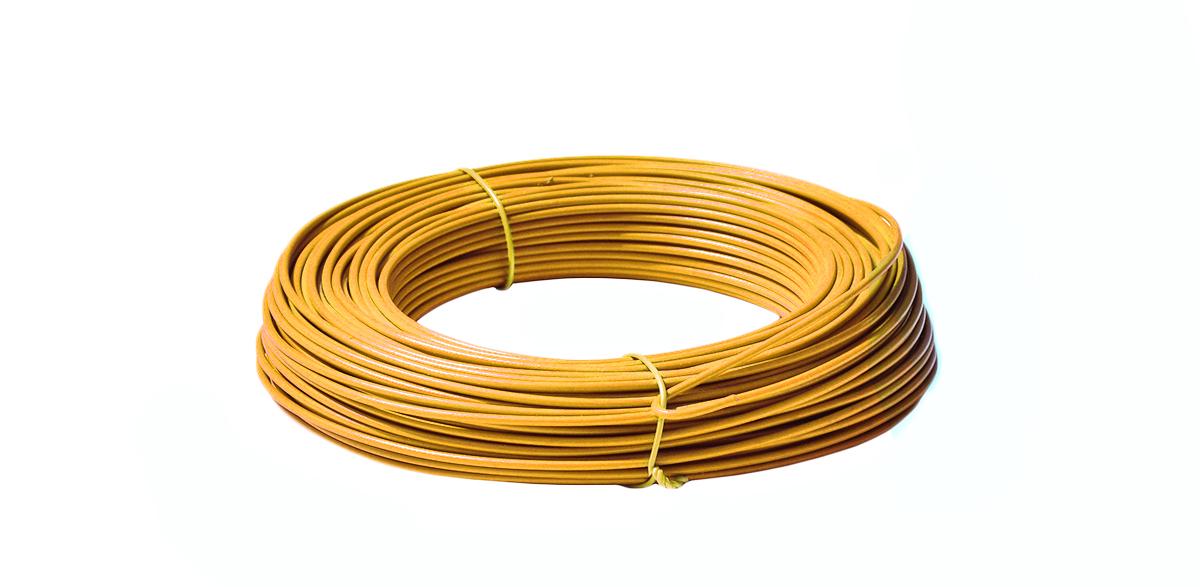 Napínací drát poplastovaný - drát 2,5/3,5 mm, délka 52 m, žlutý