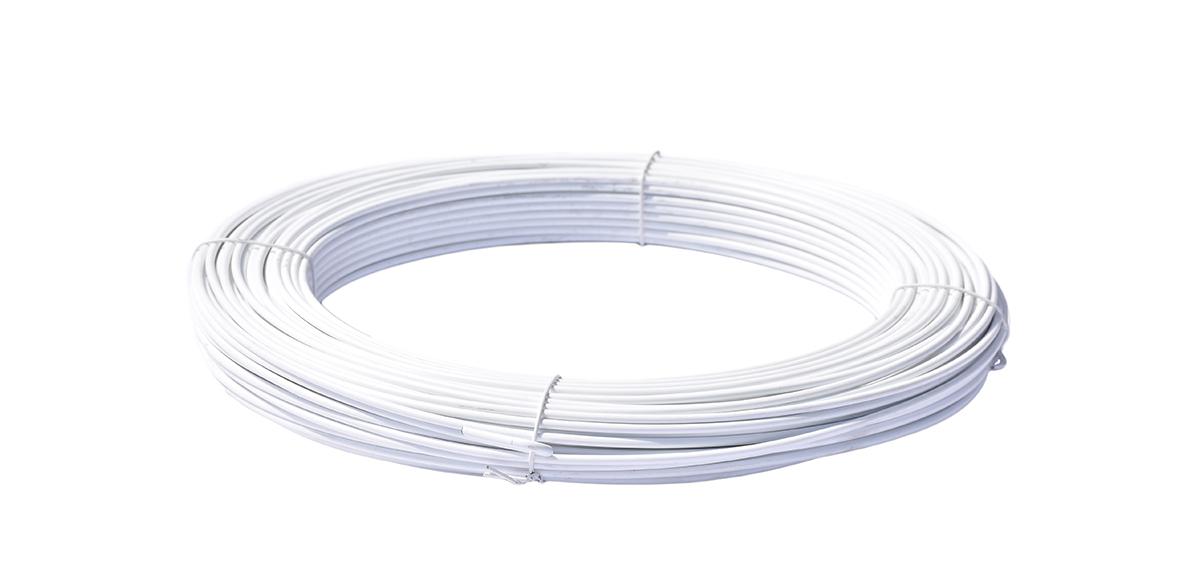 Napínací drát poplastovaný - drát 2,5/3,5 mm, délka 78 m, bílý