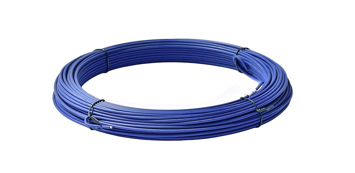 Napínací drát poplastovaný - drát 2,5/3,5 mm, délka 52 m, modrý