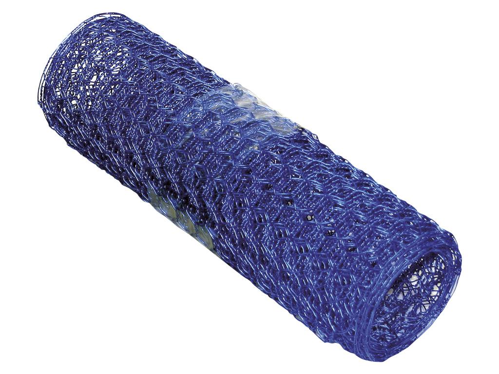 Dekorační pletivo šestihranné - 0,8 mm, 13x13 mm, modré