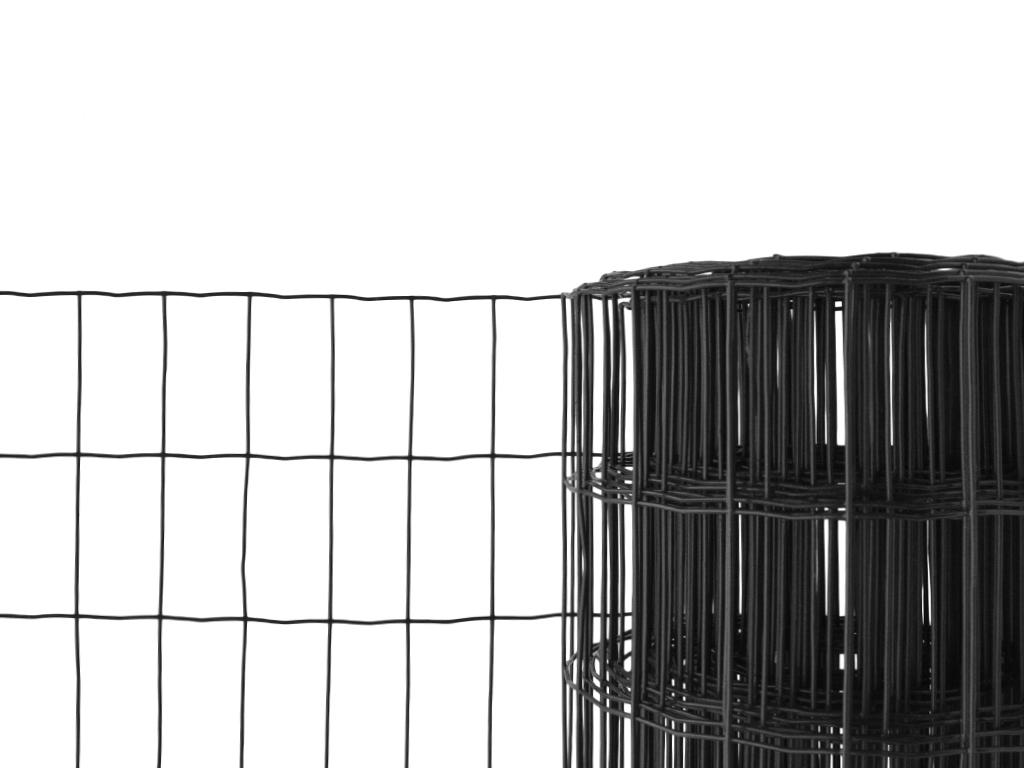 Svařované pletivo poplastované - Pantanet Family - výška 80 cm, drát 2,5 mm, Zn+PVC antracit