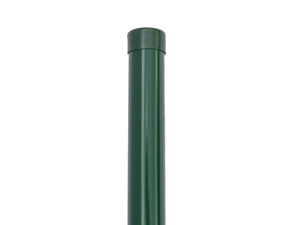 Plotový sloupek zelený průměr 48 mm, výška 280 cm