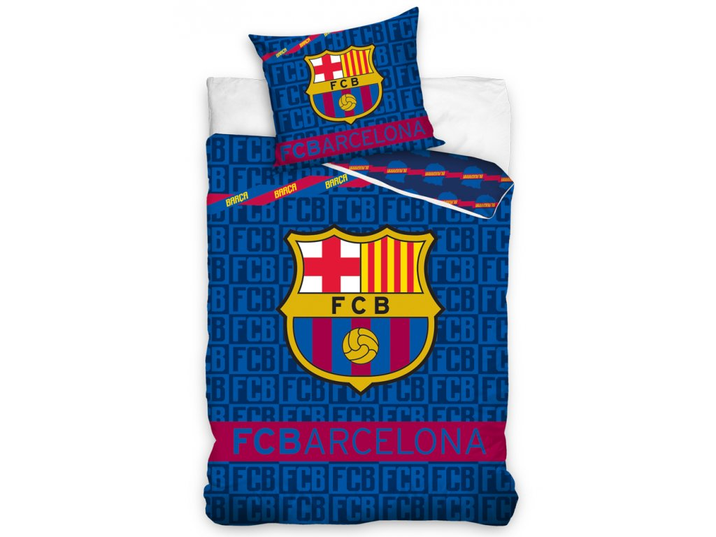 Fotbalové povlečení FC Barcelona Letters