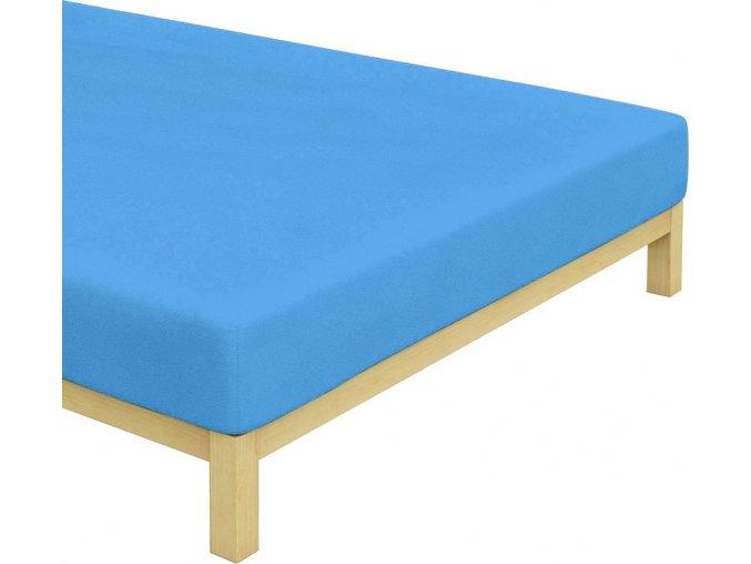 Froté prostěradlo Středně Modré
