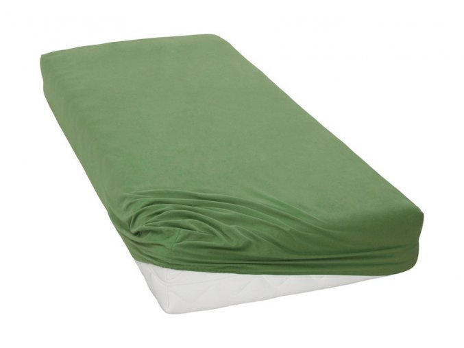 Jersey prostěradlo Tmavě Zelené